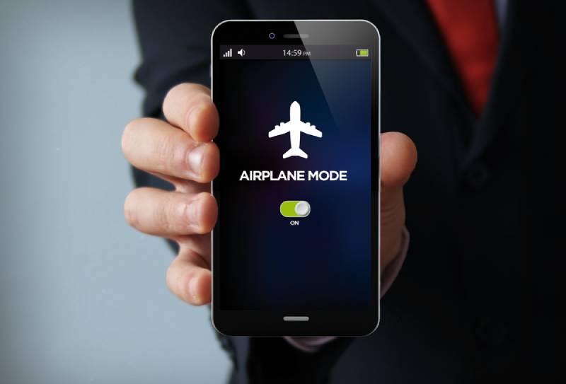 Flugzeugmodus am Telefon