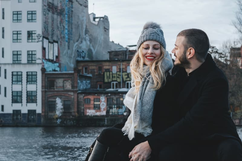 Paar genießen ihre Zeit
