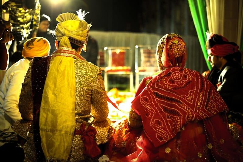 eine traditionelle indische Hochzeit