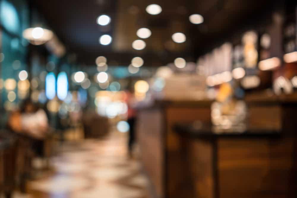 Unscharfes Foto des Cafés