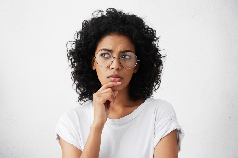 Isolated portrait of stylish young mixed race