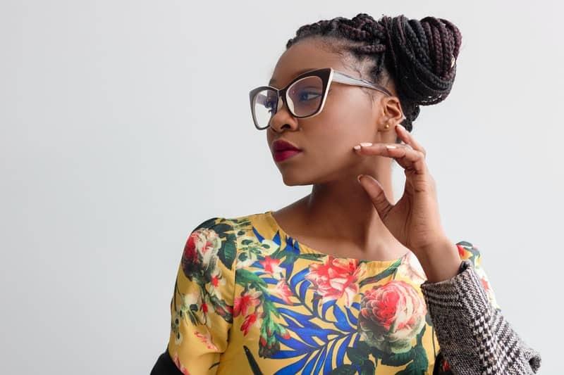 Porträt einer schwarzen Frau