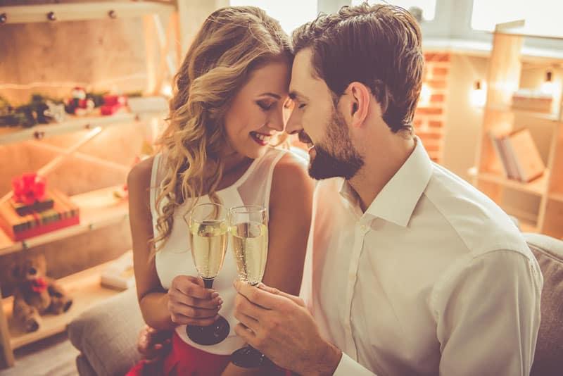 Paar verliebt auf Date