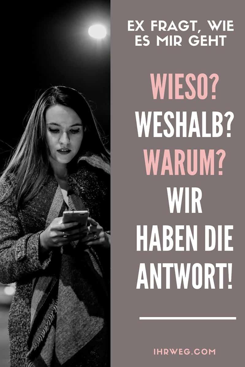 Ex Fragt, Wie Es Mir Geht: Wieso? Weshalb? Warum? Wir Haben Die Antwort!