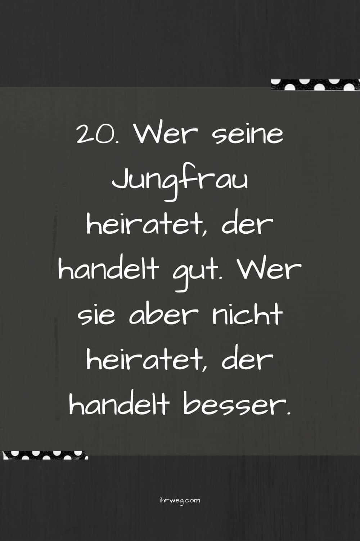 Jungfrau Sprüche, Die Sogar Erfahrene Aus Der Reserve Locken