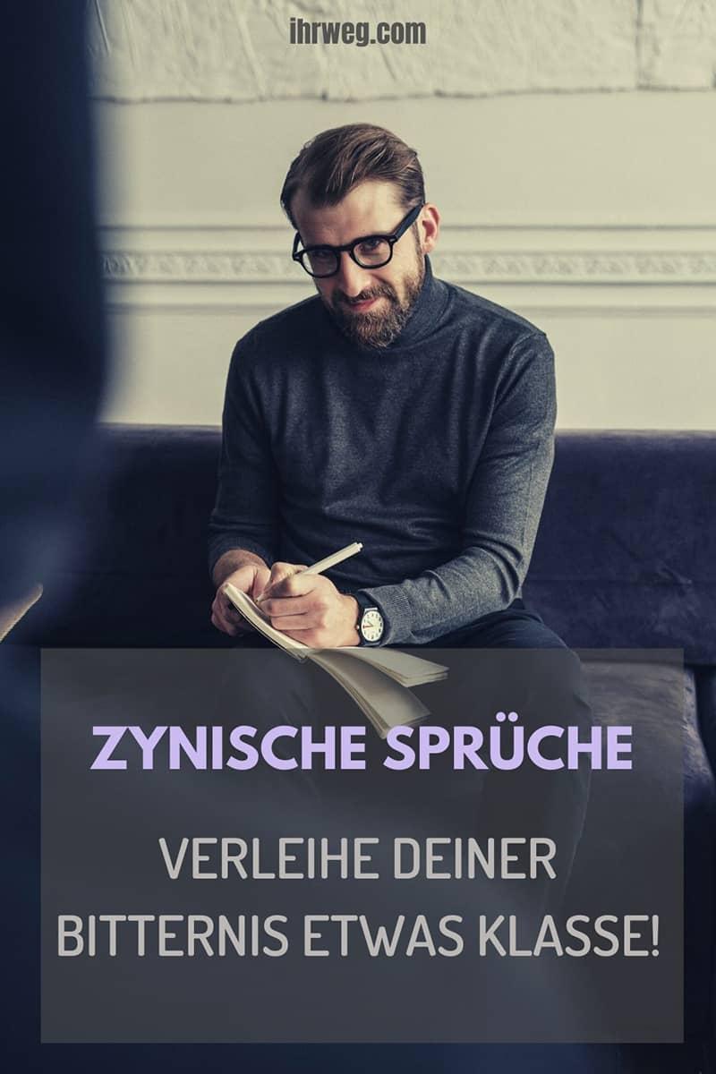 Zynische Sprüche Verleihe Deiner Bitternis Etwas Klasse!