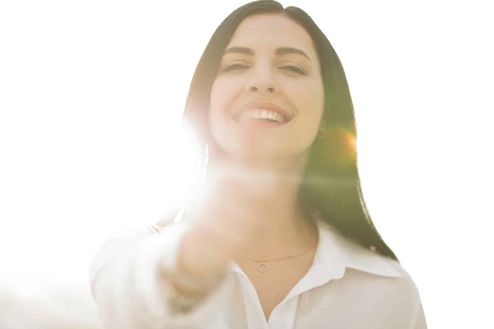 ein Porträt einer erfolgreichen selbstbewussten Frau