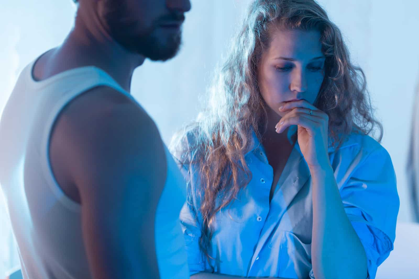 ein Porträt eines streitenden Liebespaares