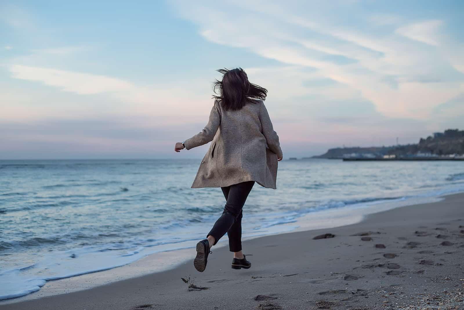 Frauenrennen am Strand
