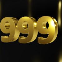 Nummer 999 Goldfarbe