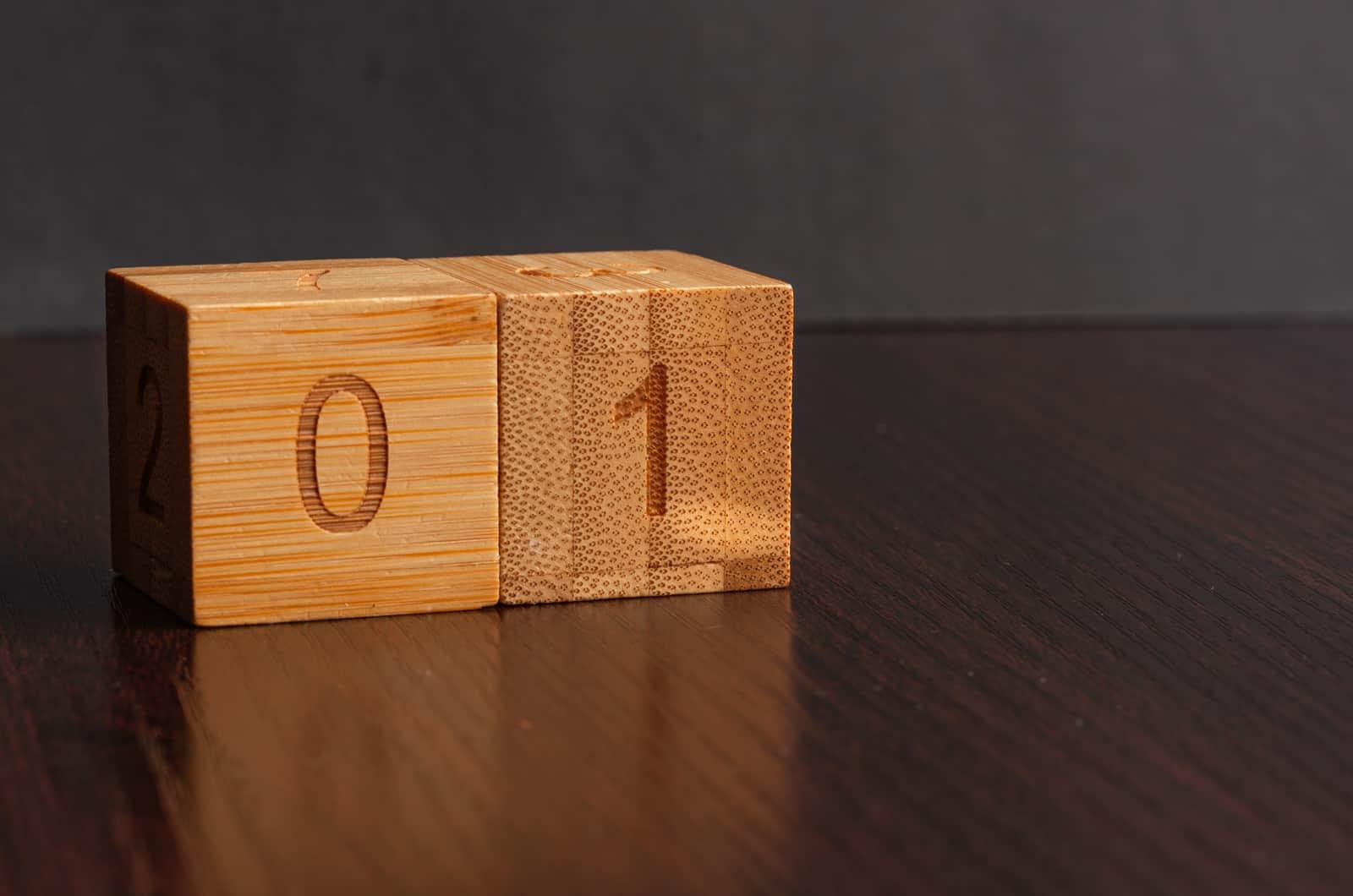 01 Nummer auf einem Blockpaar