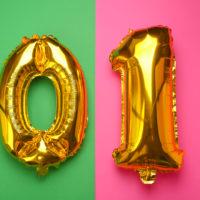 01 auf einem Ballon