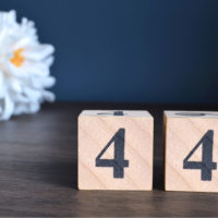 44 auf einem Paar Blöcke