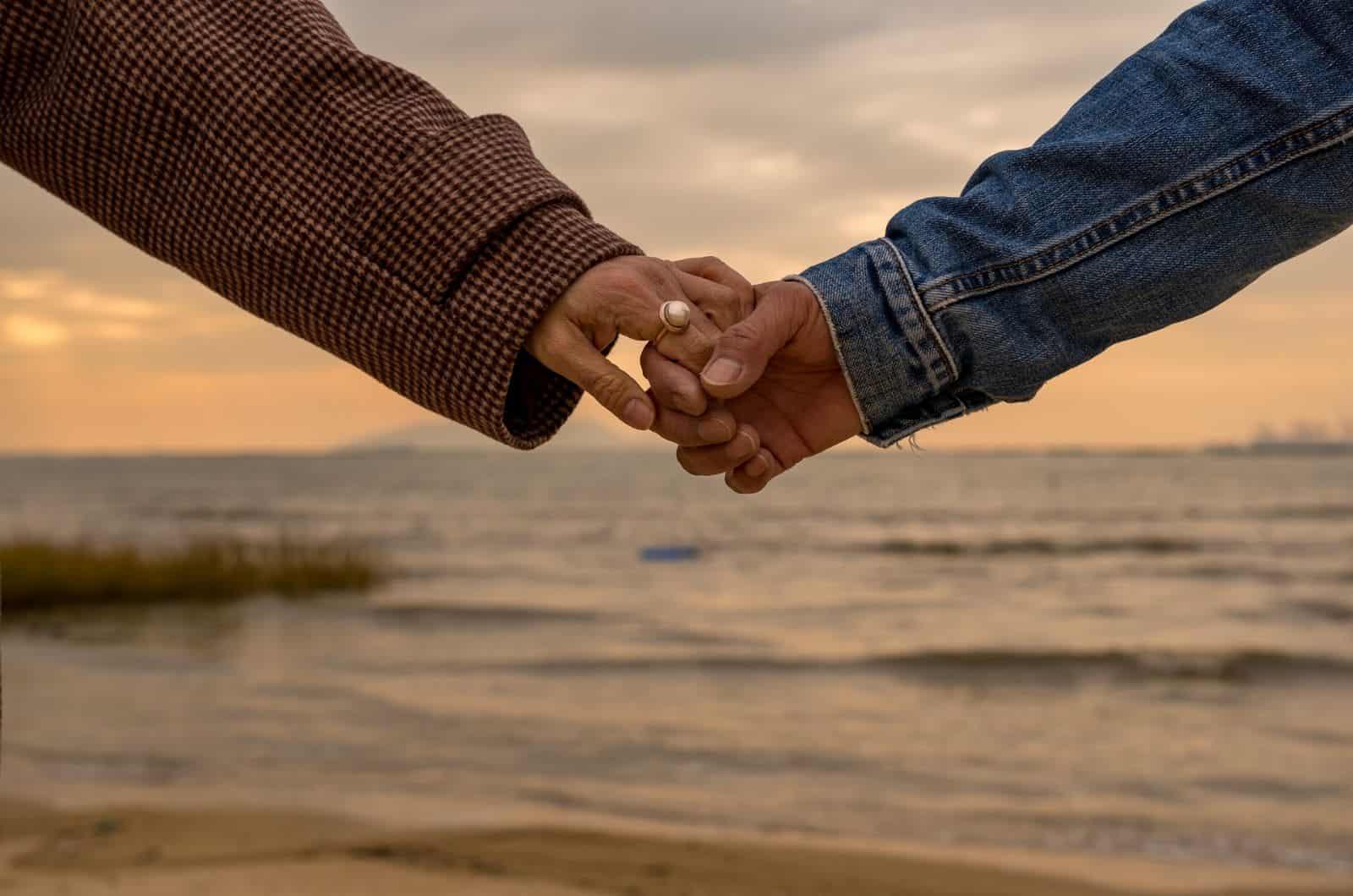 paar handchen haltend